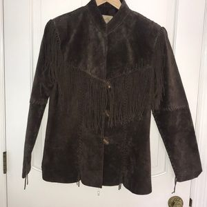 Scully suede leather fringe jacket